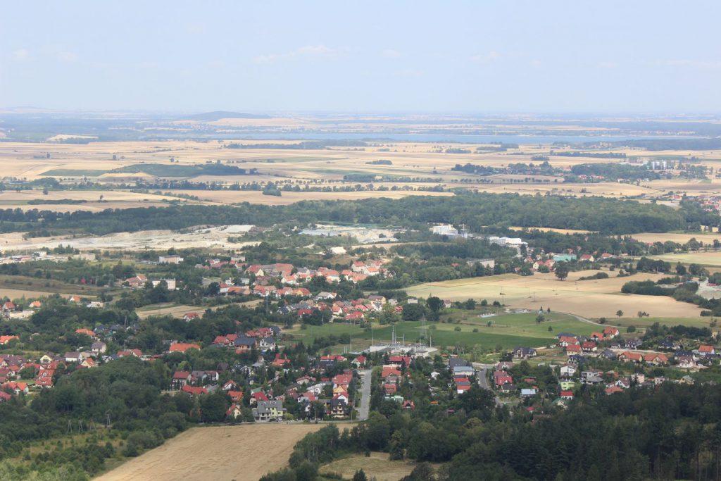 Widok z Wieżycy na Zalew Mietkowski